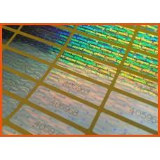 30x10 мм холограмен стикер със сериен номер - 65 бр.